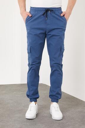 Enuygunenmoda Erkek Slim Fit Jogger Pantolon Mavi 3