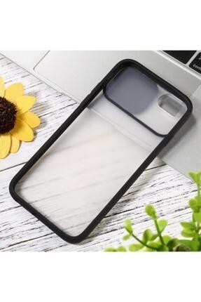 Teknoçeri Iphone 7 / 8 / Se 2020 Uyumlu Kamera Lens Korumalı Sürgülü Siyah Kılıf 3