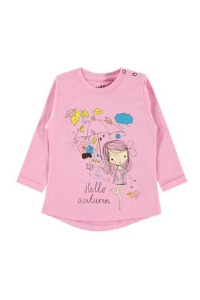 Kujju Kız Bebek Pembe Sweatshirt 0