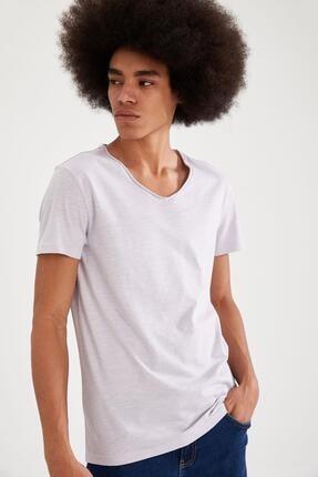 Defacto Slim Fit V Yaka Basic Kısa Kollu Tişört 0