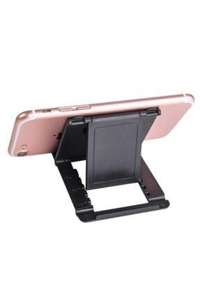 HADRON Ayarlanabilir Katlanır Masaüstü Plastik Mini Portatif Taşınabilir Cep Telefonu Tablet Standı Tutucu 1