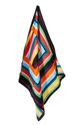 Vis a Vis Kadın Renkli Desenli Fular 9Yfl826K101 3