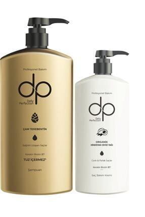 Yabigel Dp Çam Terebentin Tuzsuz Şampuan 800 Ml + Hindistan Cevizi Yağı Saç Bakım Kremi 500 Ml 0