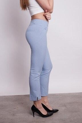 Jument Süs Cepli Yırtmaçlı Paça Pantolon -mavi 2