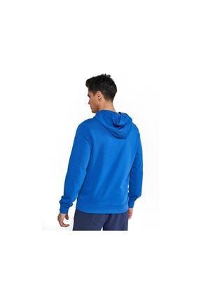 HUMMEL Erkek Mavi Kanguru Cep Sweatshirt 1