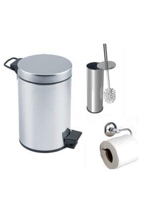 Banyo Çöp Kovası Seti Çöp Kovası Fırça Kağıtlık E96384603
