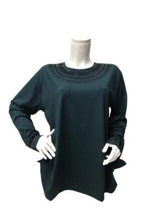 Kadın Taşlı Büyük Beden Bluz 104-5