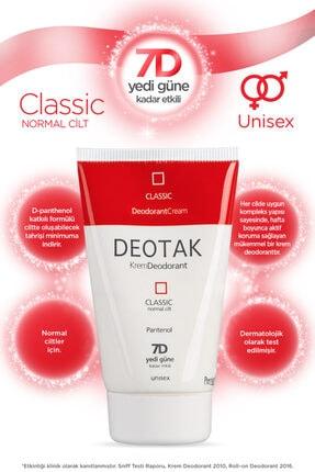 Deotak Normal Ciltler Için Klasik Krem Deodorant 35ml 1