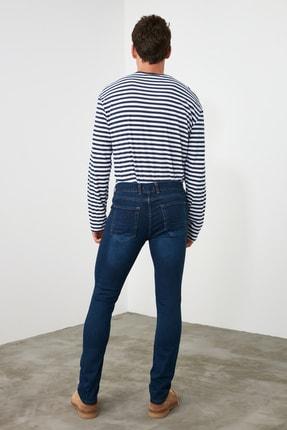 TRENDYOL MAN Indigo Erkek Skinny Tırmıklı Jeans TMNSS20JE0331 4