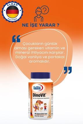 Eurho Vital Dinovit 90 Çiğnenebilir Tablet - Portakal 1