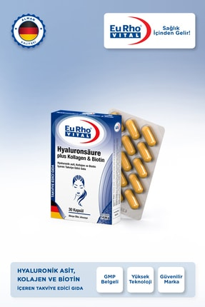 Eurho Vital Eurho® Vital Hyaluronik Asit, Kollajen Ve Biotin Içeren Takviye Edici Gıda 3