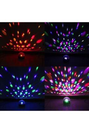 BAY MİA Küre Disko Topu Müzik Çalar Renkli Lazer Işıklı Bluetooth Sese Duyarlı Işıklar Disko Parti Işığı 2