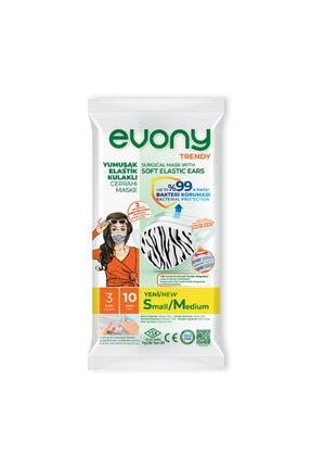 Evony Yumuşak Elastik Kulaklıklı Maske Small /medium 10 Lu 10 X5 50 Adet 0