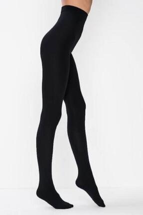 Penti Termal Kadın Siyah Içi Polar Kışlık Esnek Külotlu Çorap 0