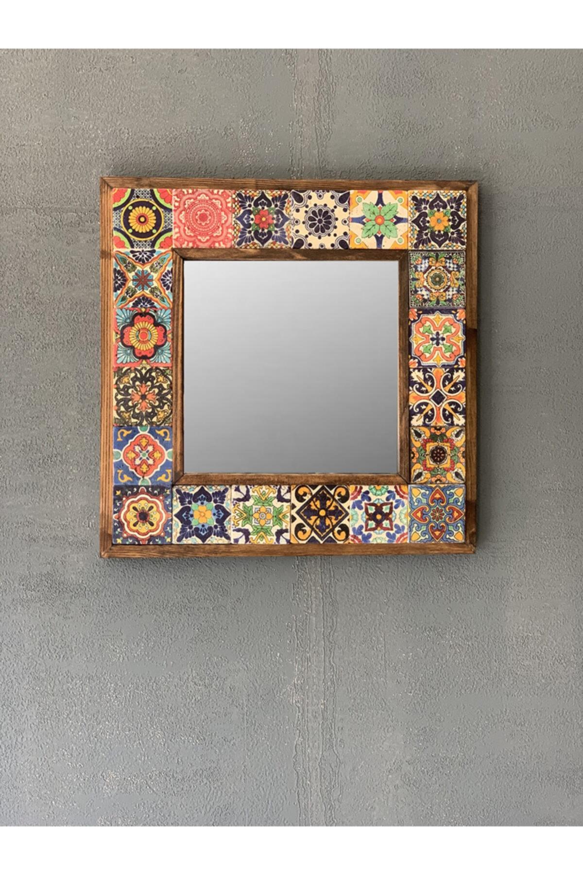 Çerçeveli Mozaik Doğaltaş Ayna