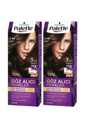 Palette Göz Alıcı Renkler 3-65 Çikolata Kahve  X 2 Adet 1