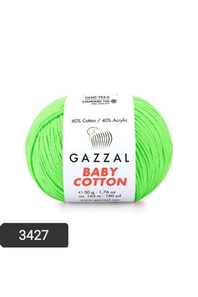 Gazzal Baby Cotton Amigurumi Ipi 50 Gr Punch Ipi El Örgü Ipi 3427 Pamul+akrilik Örgü Ipi 0