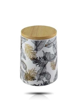 13,5 Cm Porselen Bambu Kapaklı Kavanoz Ckr2702 ST01504