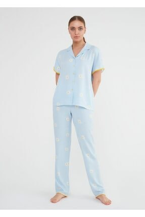Suwen Daisy Maskulen Pijama Takımı 1