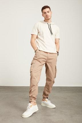 Tena Moda Erkek Kar Melanj Kapüşonlu Düz Tişört 2