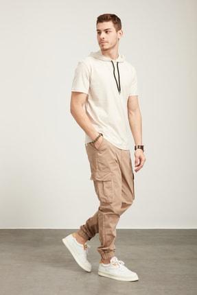 Tena Moda Erkek Kar Melanj Kapüşonlu Düz Tişört 4