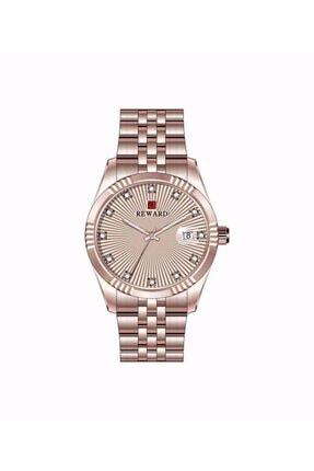Rosegold Zarif Ve Şık Takvimli Taşlı Kadın Kol Saati RWD-A140792-RSGLD