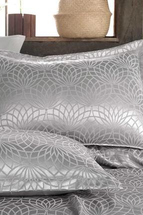 Hayal Evi Gümüş Premium Çift Kişilik Jakar Şönil Kumaş Yatak Örtüsü Takımı 2
