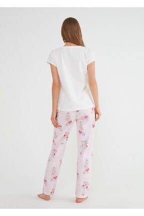 Suwen Kadın Pembe Martina Pijama Takımı 2