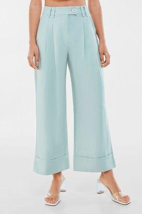 Dökümlü Midi Culotte Pantolon resmi