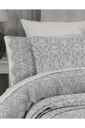 Hayal Evi Tek Kişilik Yatak Örtüsü Takımı Gümüş 1