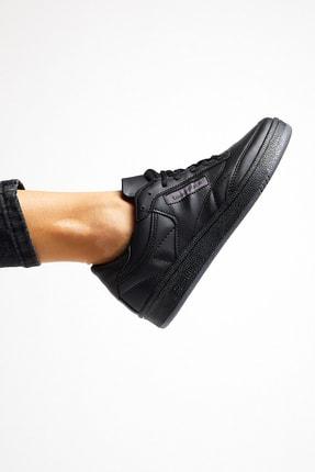 Tonny Black Siyah Cilt Unisex Sneaker TB107-0 0