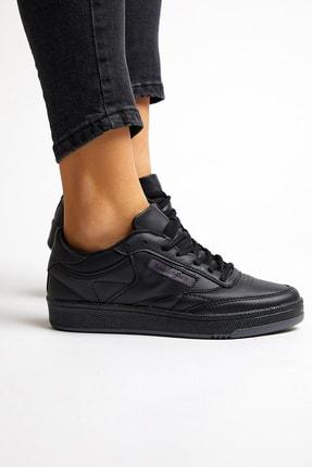 Tonny Black Siyah Cilt Unisex Sneaker TB107-0 1