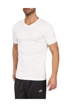 17s-1204 Beyaz Erkek T-shirt resmi