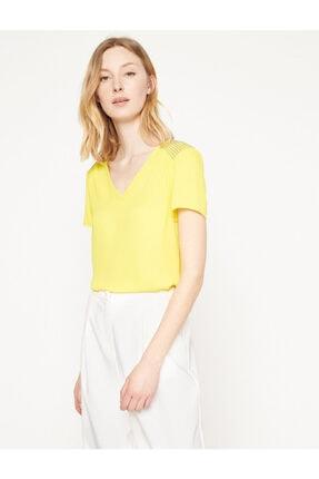 Koton Kadın Sarı Bluz 7YAK63743EW 1