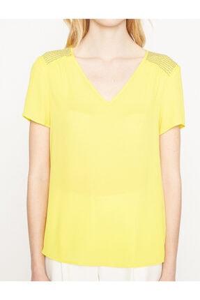 Koton Kadın Sarı Bluz 7YAK63743EW 2
