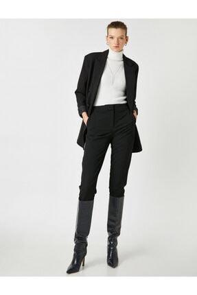 Koton Kadın Siyah Cepli Pantolon 1