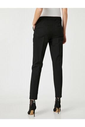 Koton Kadın Siyah Cepli Pantolon 3
