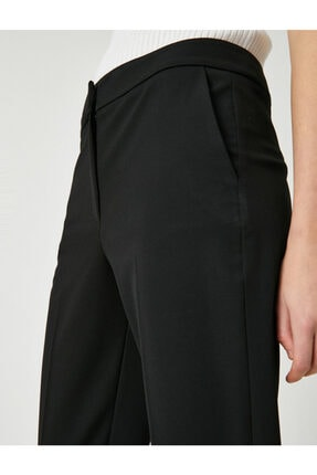 Koton Kadın Siyah Cepli Pantolon 4