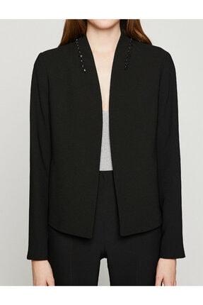 Koton Kadın Siyah Ceket 8YAK52422UW 3