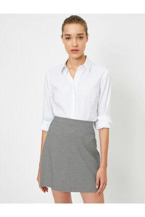 Koton Kadın Beyaz Uzun Kollu Gömlek 1