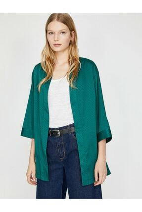 Koton Kadın Yeşil Desenli Kimono 9YAK58144CW 1