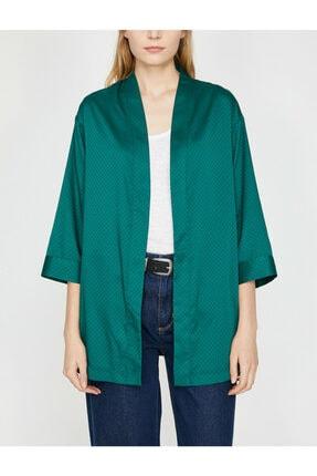 Koton Kadın Yeşil Desenli Kimono 9YAK58144CW 2
