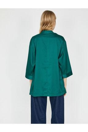 Koton Kadın Yeşil Desenli Kimono 9YAK58144CW 3