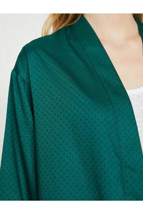 Koton Kadın Yeşil Desenli Kimono 9YAK58144CW 4