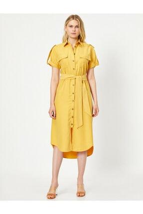 Koton Cep Detayli Gömlek Elbise 2