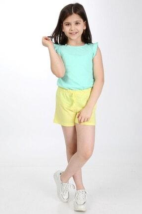 Emokids Kız Çocuk Sarı Basic Şort 0