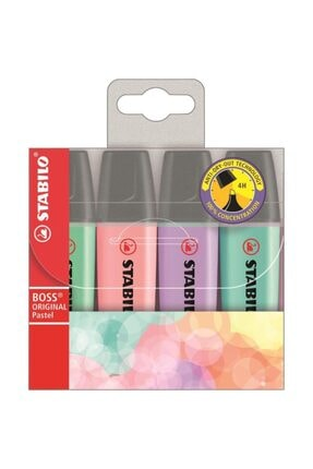 Stabilo Stabılo Boss Pastel Renkli Fosforlu Kalem 4'lü 0