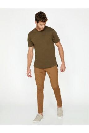 Koton Erkek Kahverengi Dar Kesim Pantolon 0