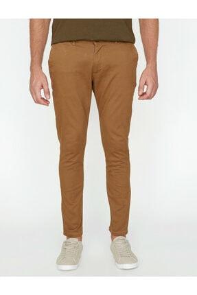 Koton Erkek Kahverengi Dar Kesim Pantolon 2