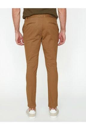 Koton Erkek Kahverengi Dar Kesim Pantolon 3